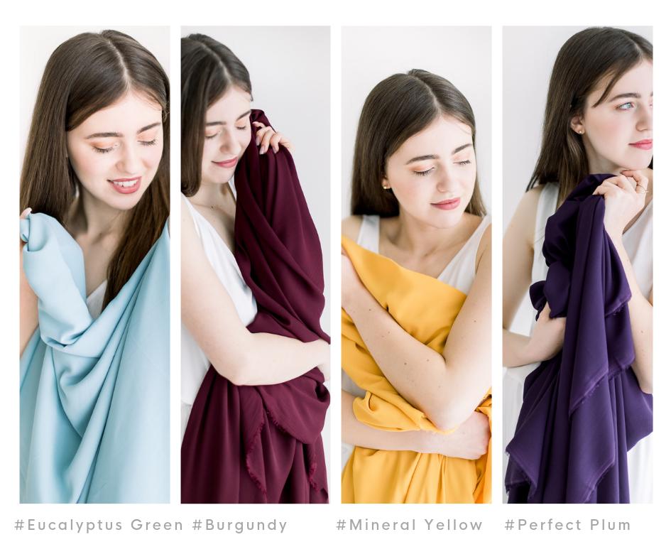 Barva látek šaty pro družičky
